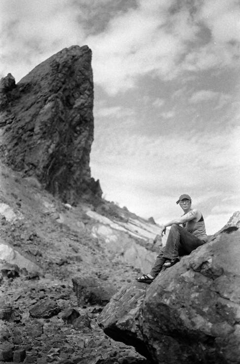 Elizabeth on a Rock in Big Bend