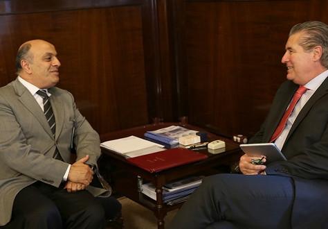 Fabio Nasralla se encontra com ex-presidente do TJSP, Desembargador Ivan Sartori.