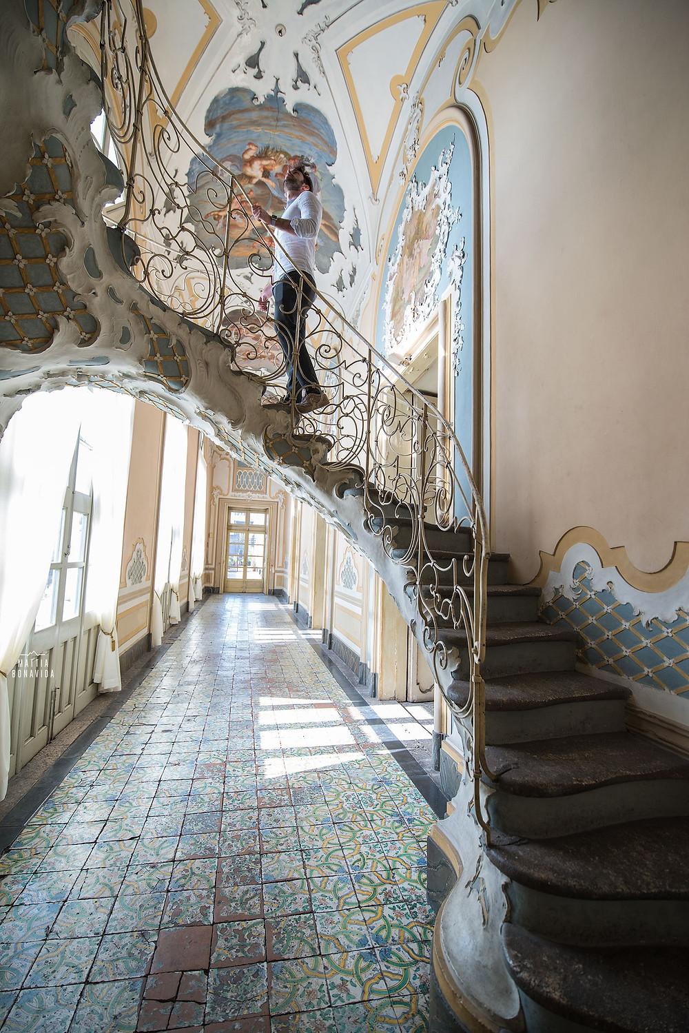 Palazzo Biscari, Catania - Scala decorata.