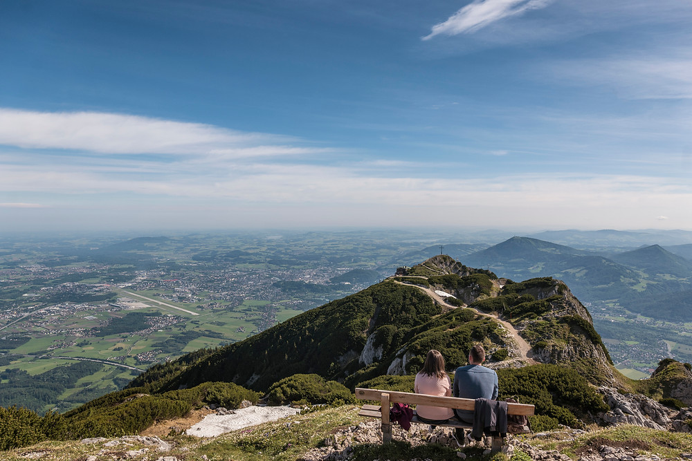 Tourists on the top of Untersberg