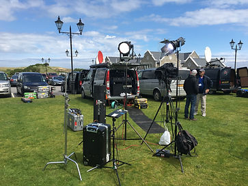 Outdoor TV Broadcasting hire in the UK