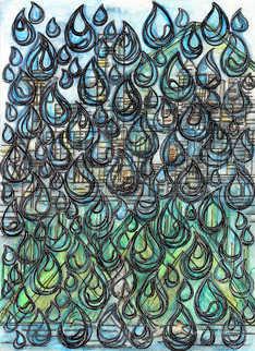 Title: Watercolor in the Rain
