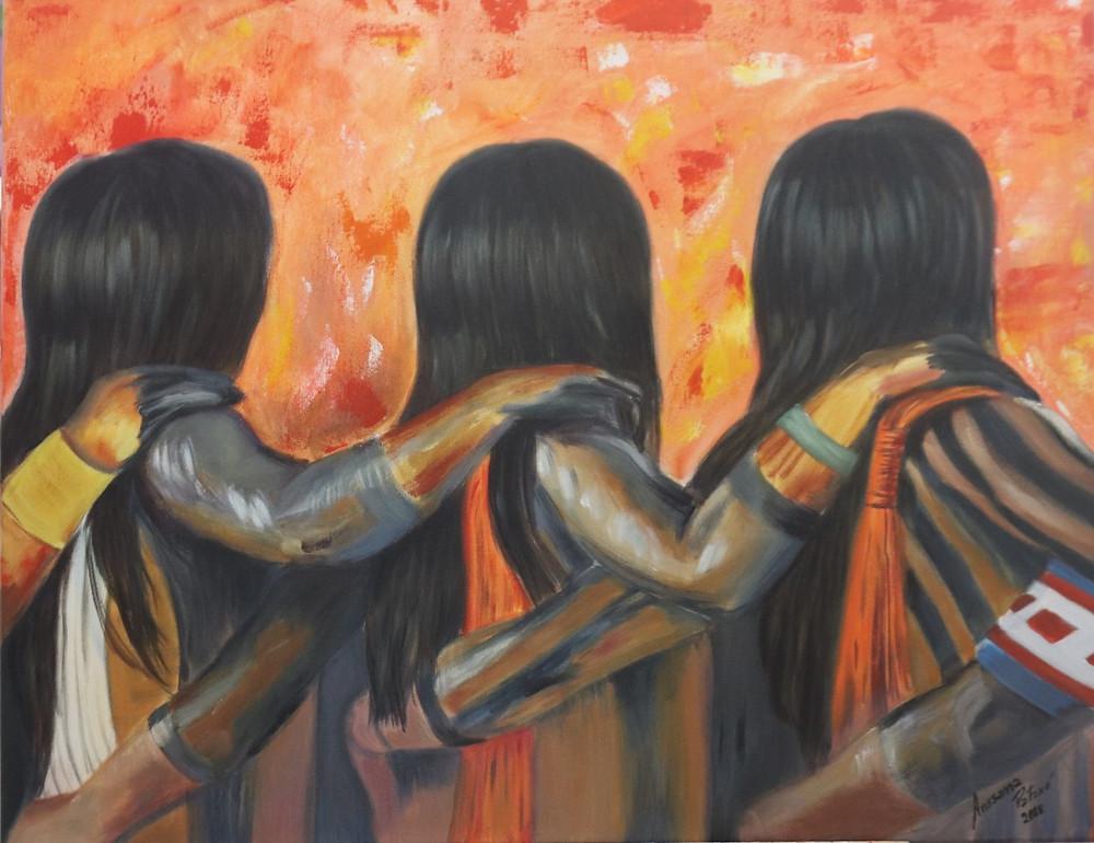 Pintura de Arissana Pataxó