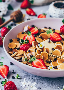 Mini Pannekaker med friske bær