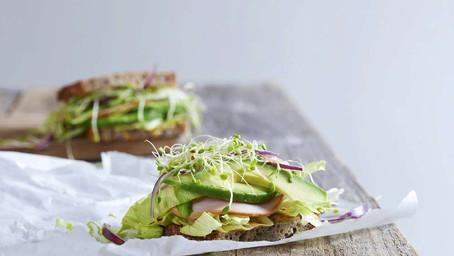 Sandwich med Skinke og Avokado