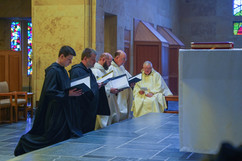 Singing the Litany of Saints