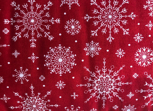 Red snowflake  cotton