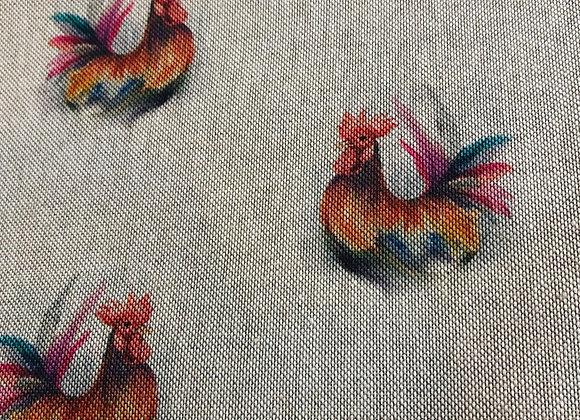Roosters linen look