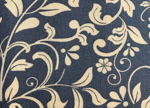 Blue Floral cotton mixer 2