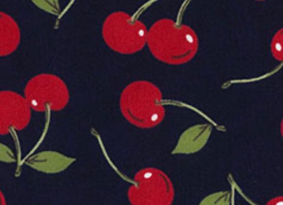 Cherry's navy  cotton