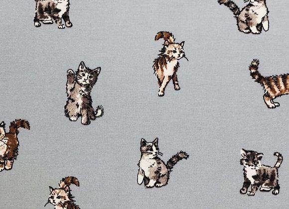 Shabby cats grey, linen look