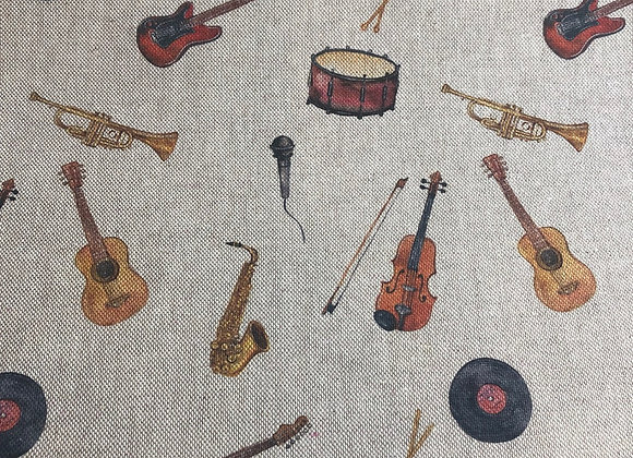 Musical instruments linen look