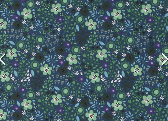 green floral cotton jersey