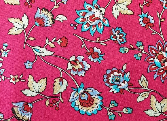 Floral cerise cotton 19