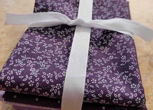 Aubergine /lilac polycotton fat quarters