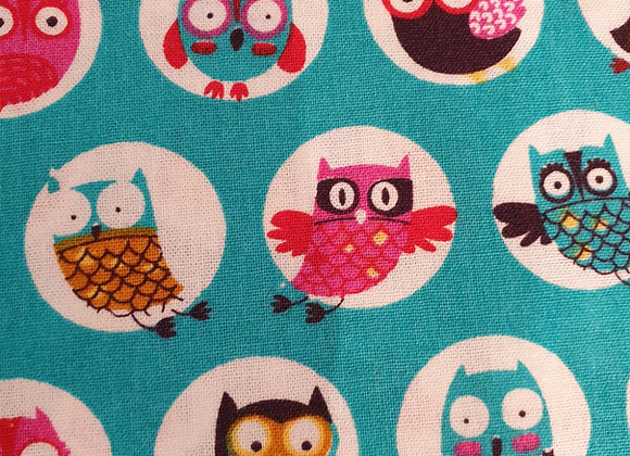 Happy owls circles - cotton