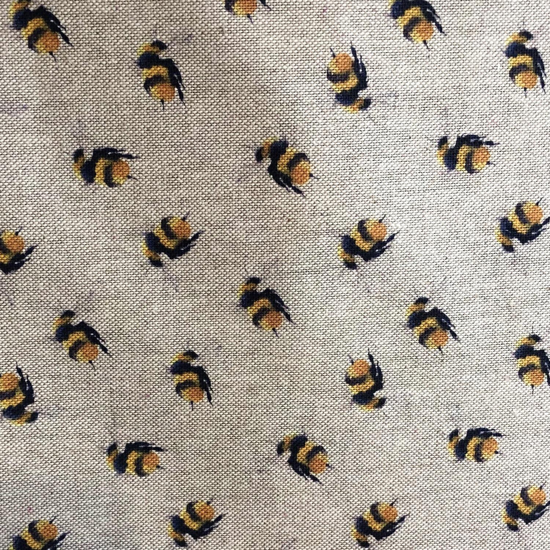 Mini bee, linen look