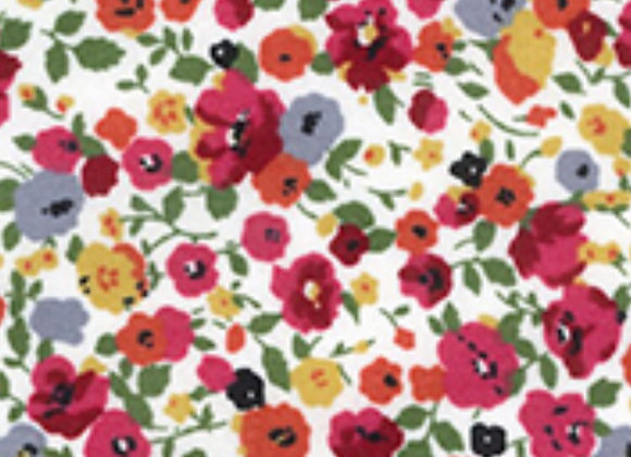 Ditsy red floral cotton