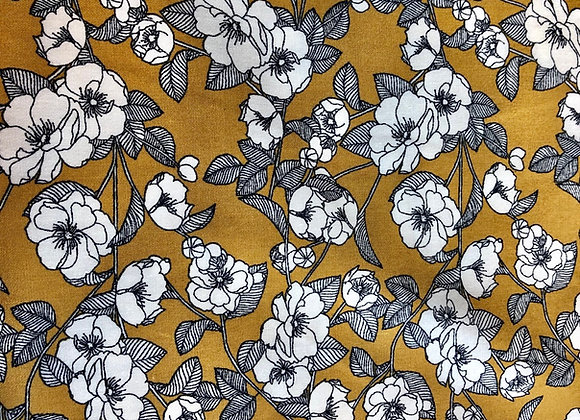 Ochre floral cotton 14