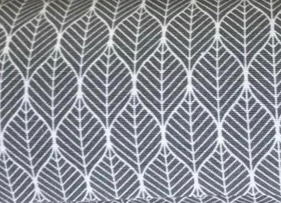 Grey leaf canvas