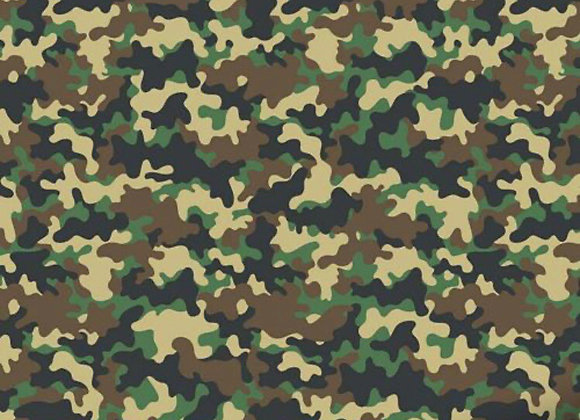 Camouflage cotton jersey