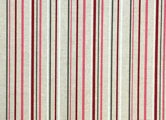 Stripe berry linen look