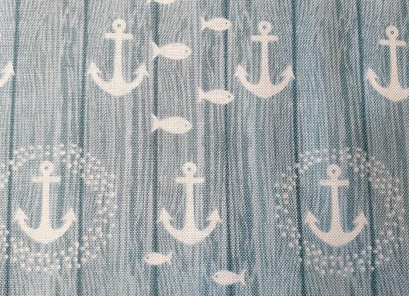 Blue anchor cotton