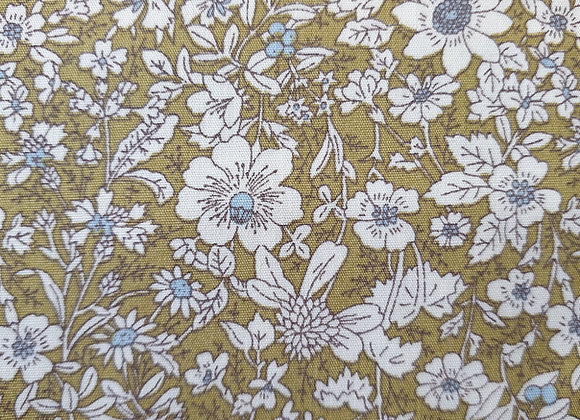 Ochre floral cotton 15