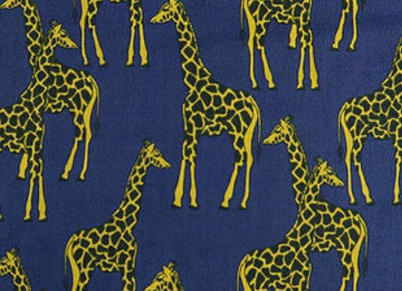 Navy giraffe polycotton