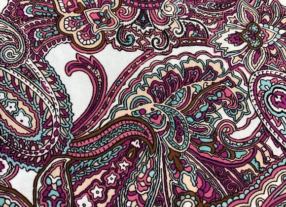 Double Georgette paisley print
