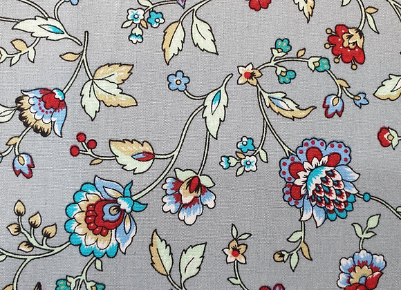 Floral (silver/grey background)  cotton  27