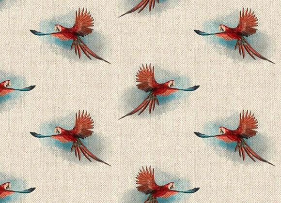 Parrot linen look canvas