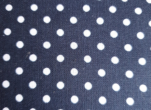 Coloured cotton with white dots