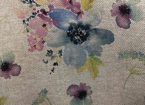 Botanical flowers autumn,  linen look