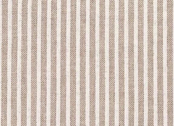 White stripe linen look