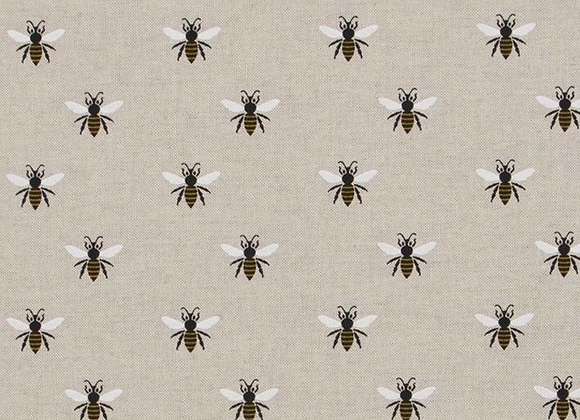 Linen look fabric bee