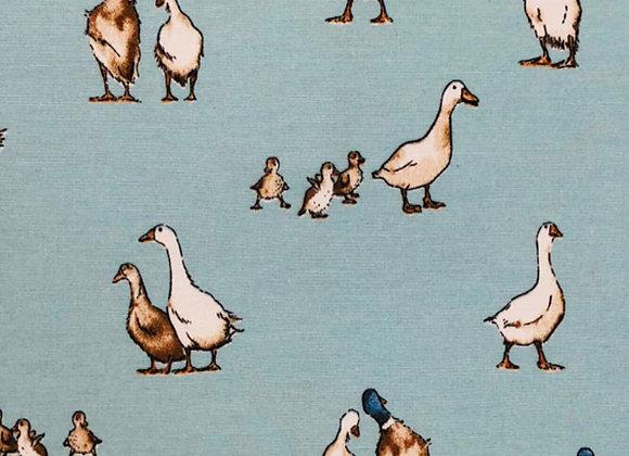 Shabby ducks grey,  linen look