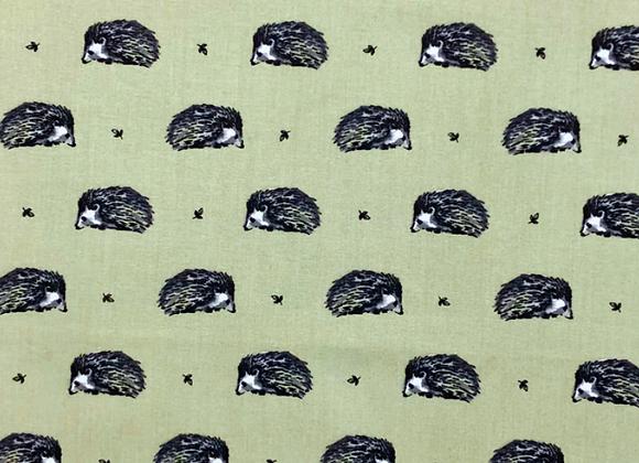 Green hedgehog cotton