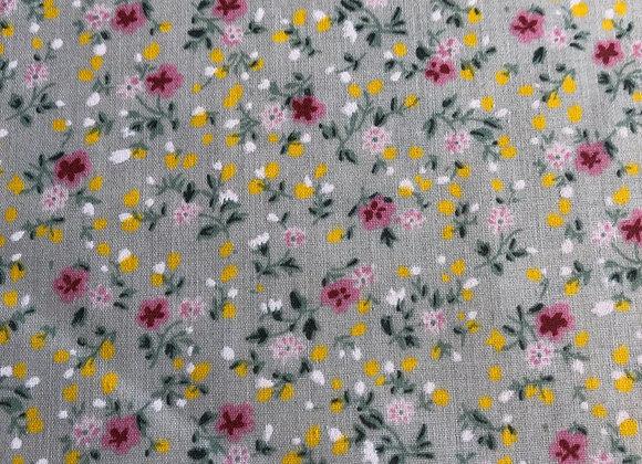 Light sage floral polycotton
