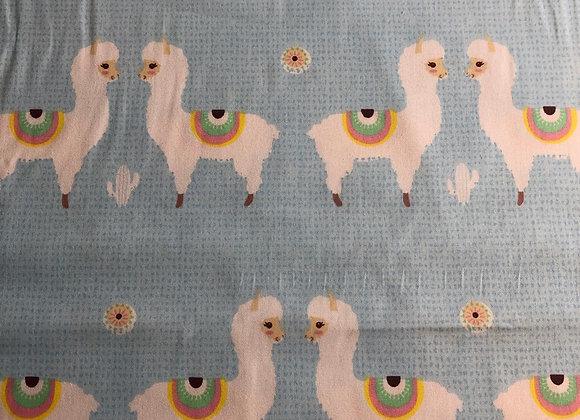Light blue alpaca cotton