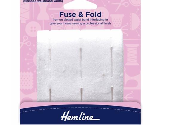 Fuse and fold waist band interfacing