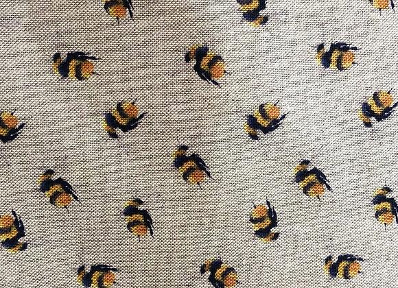 Bee oilcloth