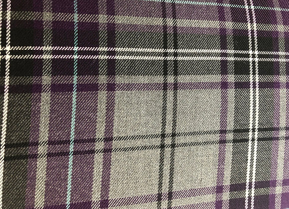 Purple fashion tartan