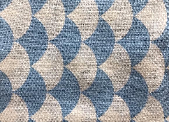 Nursery basics blue cotton