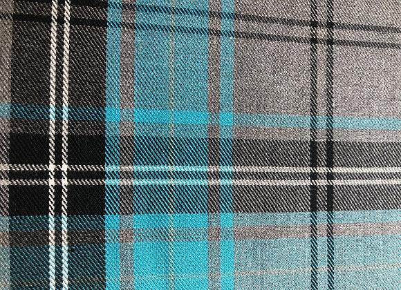 Turquoise fashion tartan