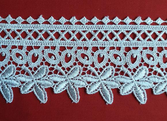 Guipure lace - white