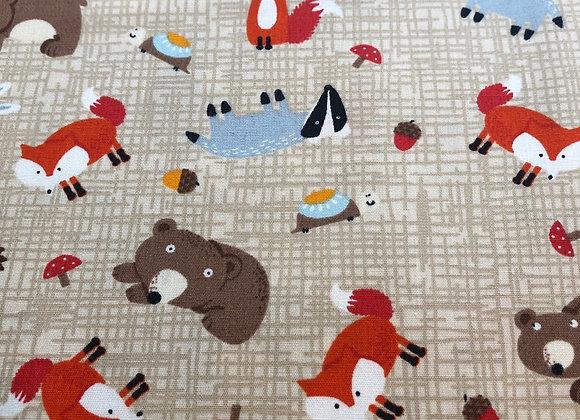 Beige fox cotton