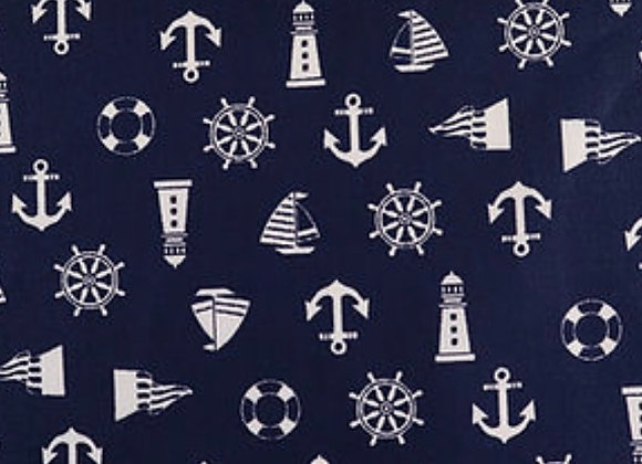 Navy nautical cotton