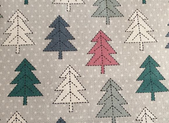 Modern Christmas Trees cotton