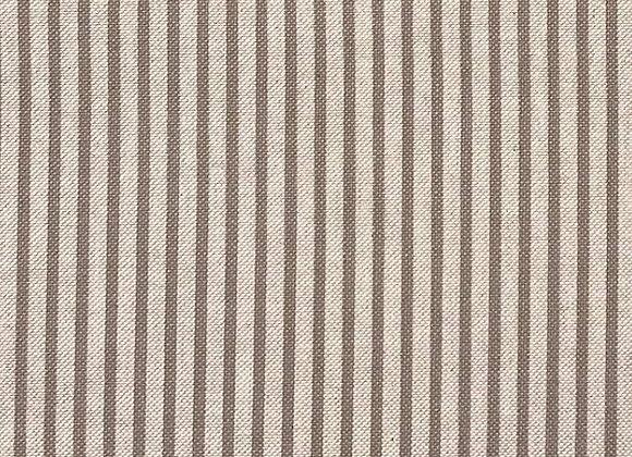 Grey stripe linen look